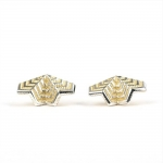 Chevron Double Fan Studs - Courtney Jackson -  Eclectic Artisans