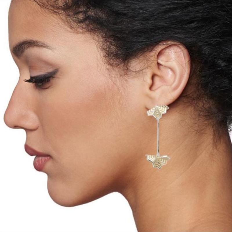 Chevron Fan Drop Earrings - Courtney Jackson -  Eclectic Artisans