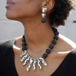 Lava Rock Earrings - Preston and Linnie -  Eclectic Artisans