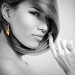 Gold Pod Earrings /Silver&Gold/ - Aleksandra Vali -  Eclectic Artisans