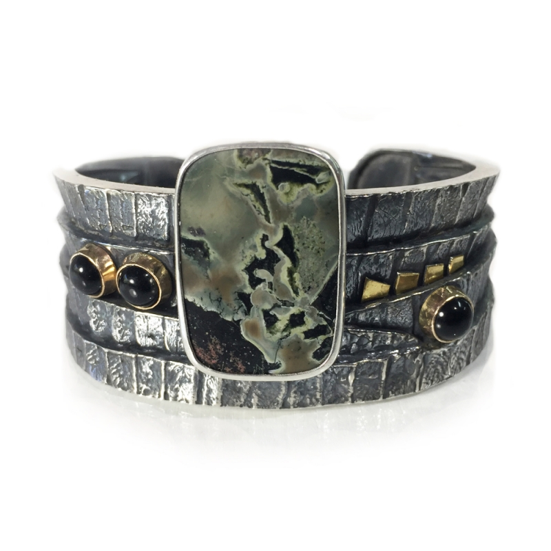 Boston Fern Cuff - Pam Fox -  Eclectic Artisans