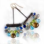 Earth, Ocean and Sky Weave Gem Dangles - Wendy Stauffer -  Eclectic Artisans