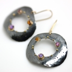 Mixed Gemstone Dotted Pebble Dangle Earrings - Wendy Stauffer -  Eclectic Artisans