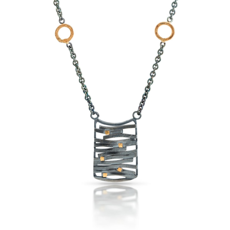 Framed Wave Necklace - Lori Gottlieb -  Eclectic Artisans