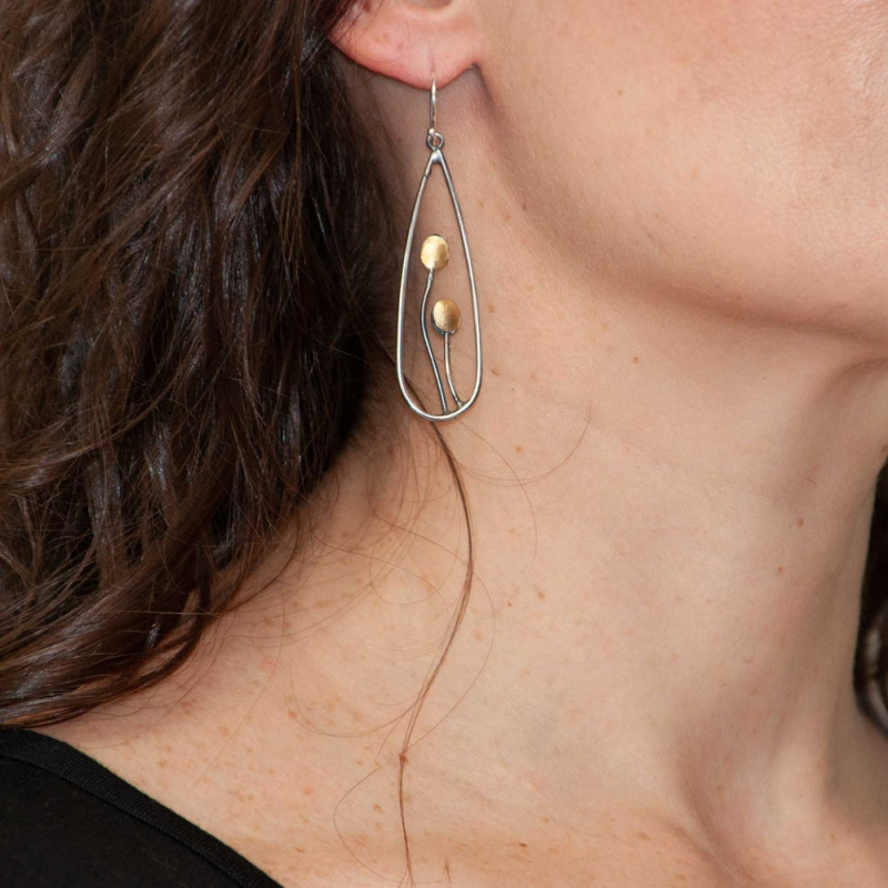 Pod earrings - Lori Gottlieb -  Eclectic Artisans