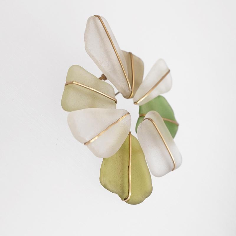 Double Cross Brooch - Delphine Nardin -  Eclectic Artisans