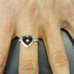 Heart Wire Ring - Nunc Diamond Jewellery -  Eclectic Artisans