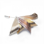 Anodised Titanium Poppy Stick Pin Brooch - Sarah Rothe -  Eclectic Artisans