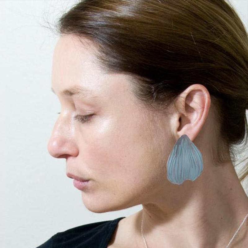 Anodised Titanium Poppy Stud Earrings - Sarah Rothe -  Eclectic Artisans