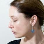 Stud Anodised Titanium Circular Earrings - Sarah Rothe -  Eclectic Artisans