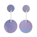 Stud Anodised Titanium Large Circular Earrings - Sarah Rothe -  Eclectic Artisans
