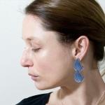 Stud Anodised Titanium Poppy Earrings - Sarah Rothe -  Eclectic Artisans
