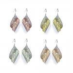 Titanium Leaf Earrings - Sarah Rothe -  Eclectic Artisans