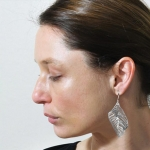 Titanium Leaf Earrings - Sarah Rothe -  Eclectic Artisans