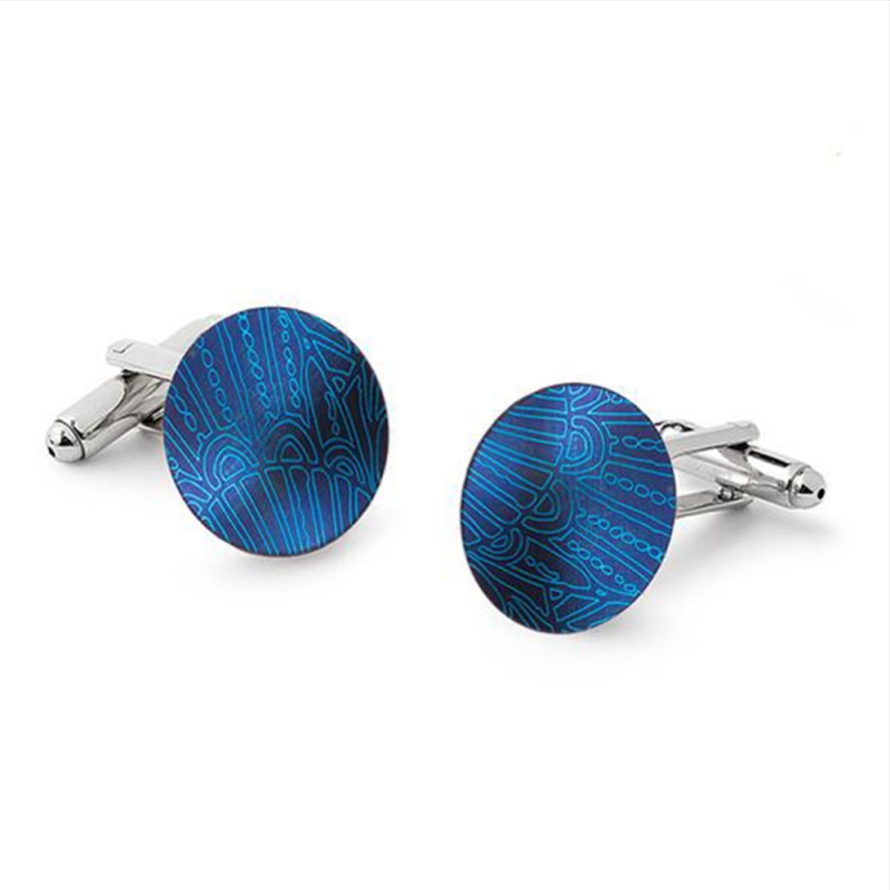Anodised Titanium & Silver Cufflinks - Sarah Rothe -  Eclectic Artisans