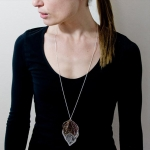 Anodised Titanium Long Pendant - Sarah Rothe -  Eclectic Artisans