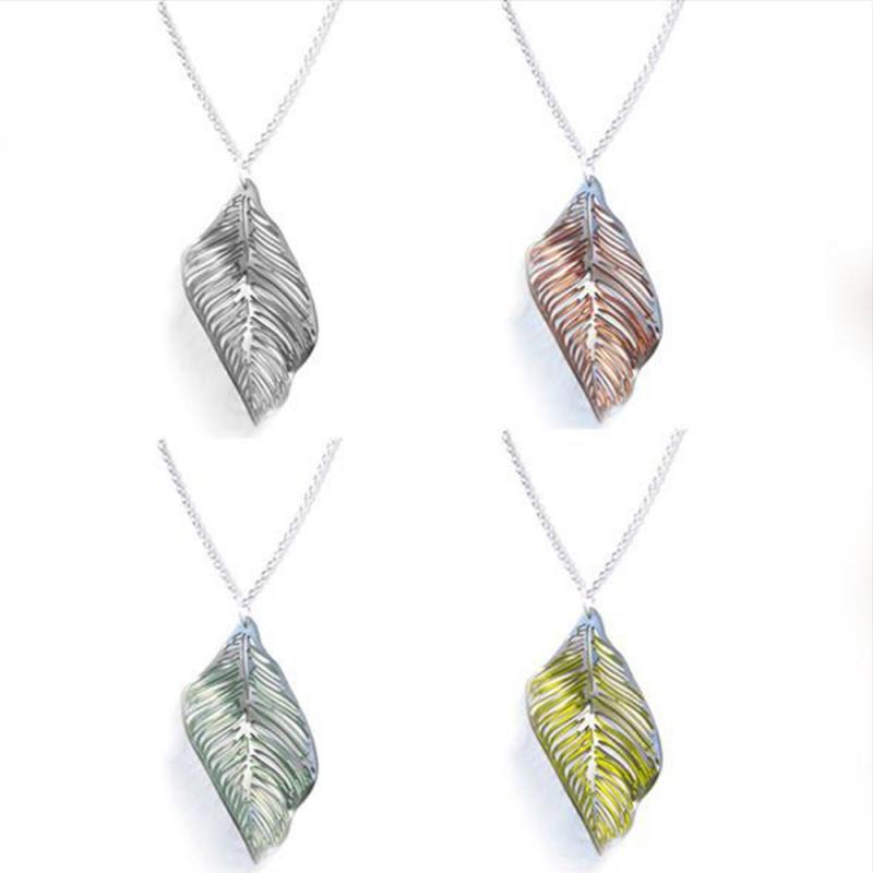 Titanium Leaf Pendant - Sarah Rothe -  Eclectic Artisans