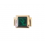 Bronze Ring with Malachite Stone - Philippa Green -  Eclectic Artisans