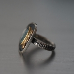 Blue Tourmaline and 18K gold ring - Mazulou   -  Eclectic Artisans