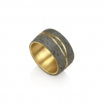 Meteor Ring   Wide - Noy  Alon -  Eclectic Artisans