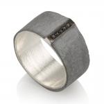 Black Line Ring  - Noy  Alon -  Eclectic Artisans