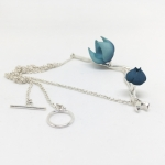 Bloom Necklace - Teal - Valeria D'Annibale -  Eclectic Artisans