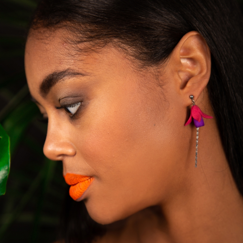 Fuxia earrings - Valeria D'Annibale -  Eclectic Artisans