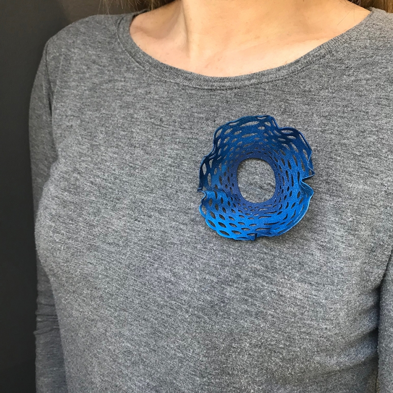 Blue Moily Brooch - ECNP Jewelry -  Eclectic Artisans