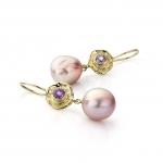Baroque pearl & spinel earrings - Hoogenboom & Bogers -  Eclectic Artisans