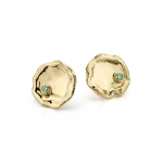 Green diamond earrings - Hoogenboom & Bogers -  Eclectic Artisans