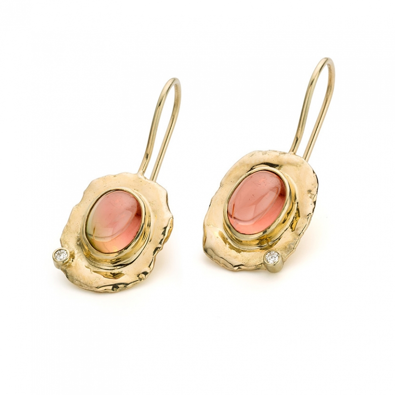 Tourmaline & diamond earrings - Hoogenboom & Bogers -  Eclectic Artisans