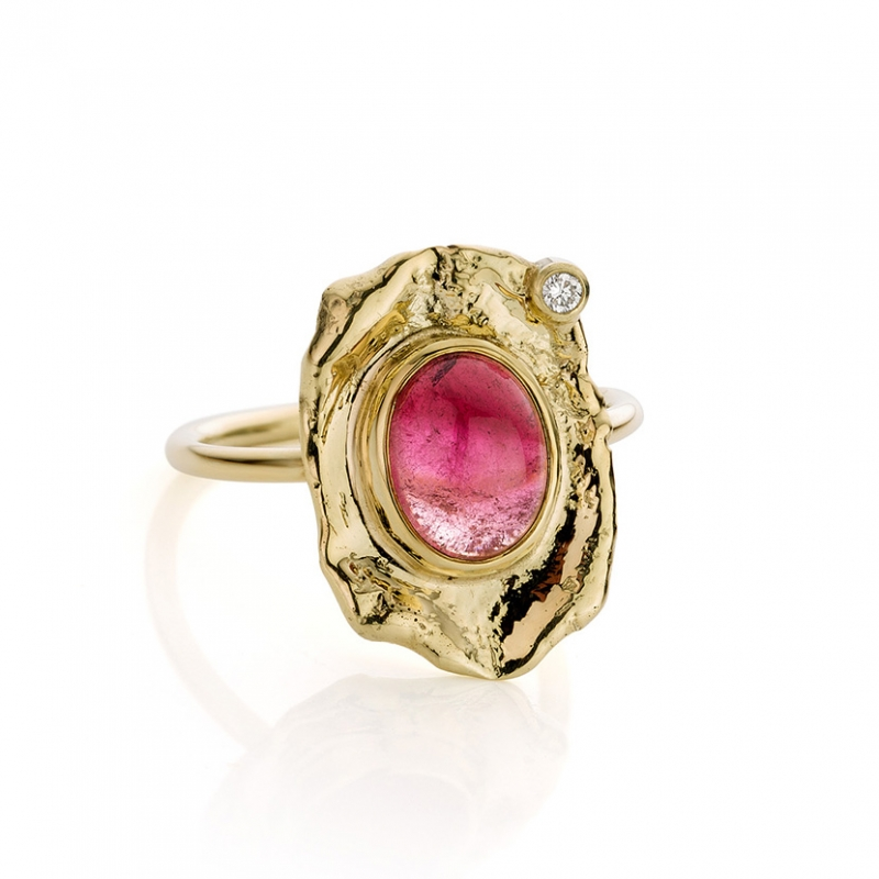 Pink tourmaline & diamond ring - Hoogenboom & Bogers -  Eclectic Artisans