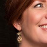Keshi pearl & sapphire earrings - Hoogenboom & Bogers -  Eclectic Artisans
