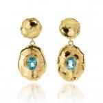 Sea blue topaz earrings - Hoogenboom & Bogers -  Eclectic Artisans