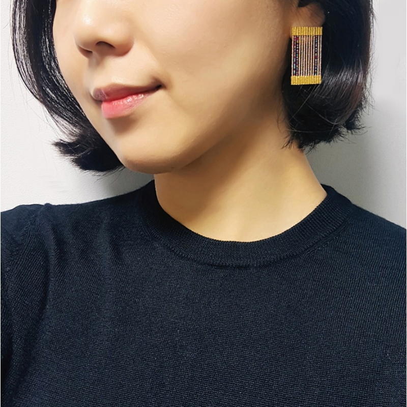 Drawing Lines Earrings No.01 - Jaesun Won -  Eclectic Artisans