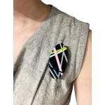 Ebony Brooch  - Laura Jaklitsch Jewelry -  Eclectic Artisans