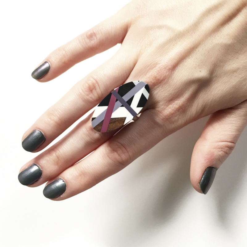 Magenta/Eggplant Ring  - Laura Jaklitsch Jewelry -  Eclectic Artisans