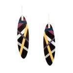 Marigold/Plum/Magenta Earrings  - Laura Jaklitsch Jewelry -  Eclectic Artisans