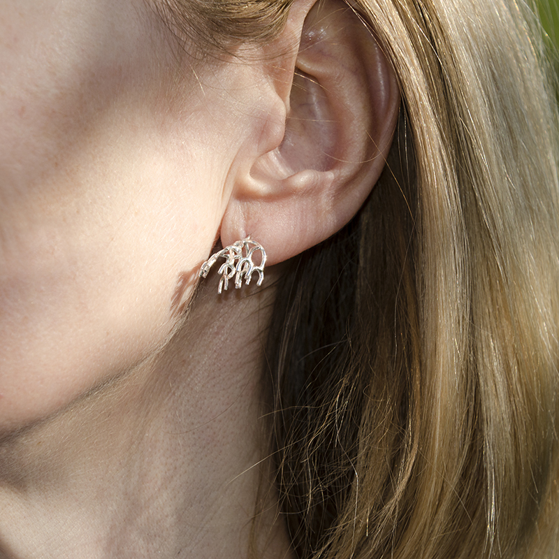 Cladonia long stem earrings - Kate Bajic -  Eclectic Artisans