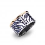 Blue Tiger Ring - Margita   Grabovski -  Eclectic Artisans