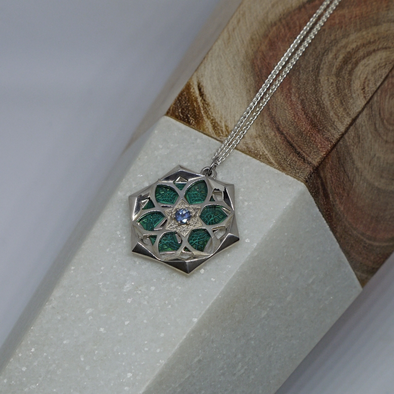 Aquamarine Reversible Medallion - Steff Wills -  Eclectic Artisans
