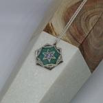 Aquamarine Reversible Medallion - Steff Wills -  Eclectic Artisans