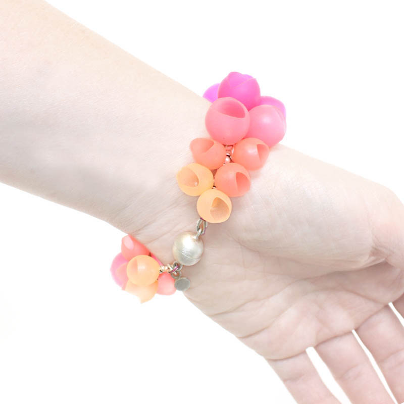 Cluster Bangle Pink Fade - Jenny Llewellyn -  Eclectic Artisans