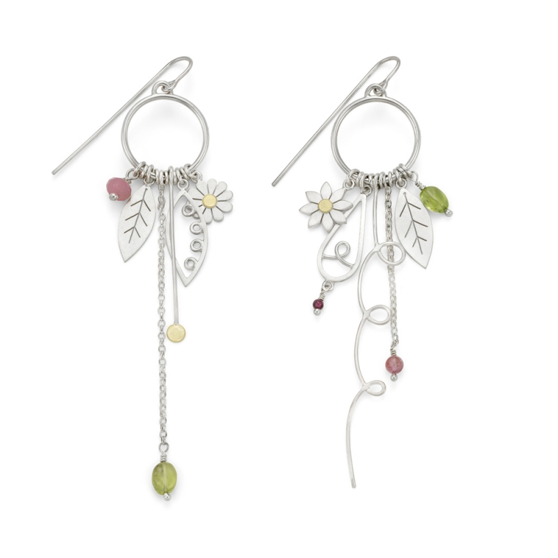 Mismatched Garden Charm Earrings - Diana Greenwood -  Eclectic Artisans