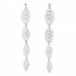 Long Leafy Silver Earrings - Diana Greenwood -  Eclectic Artisans