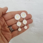 Triple Daisy Drop Earrings - Diana Greenwood -  Eclectic Artisans