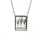 3 People Necklace - Asagi Maeda -  Eclectic Artisans