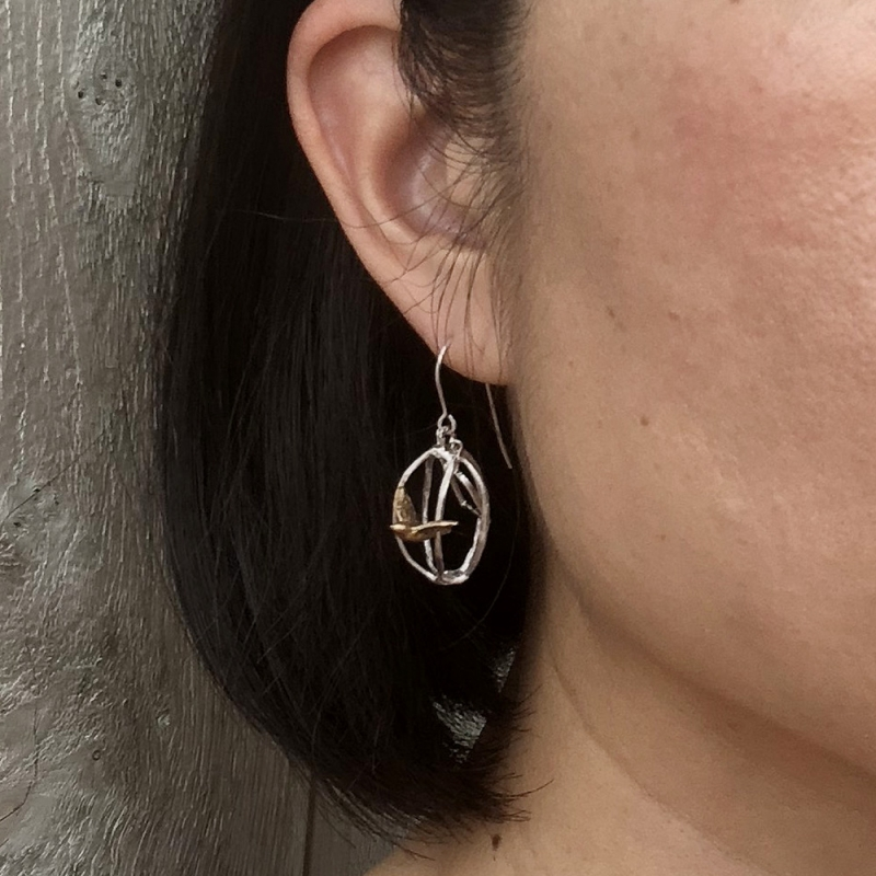 A Bird in a Cage, Out of a Cage Earrings - Asagi Maeda -  Eclectic Artisans