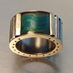 Corrugated Wave Ring Aqua - Convex - Melody Armstrong -  Eclectic Artisans