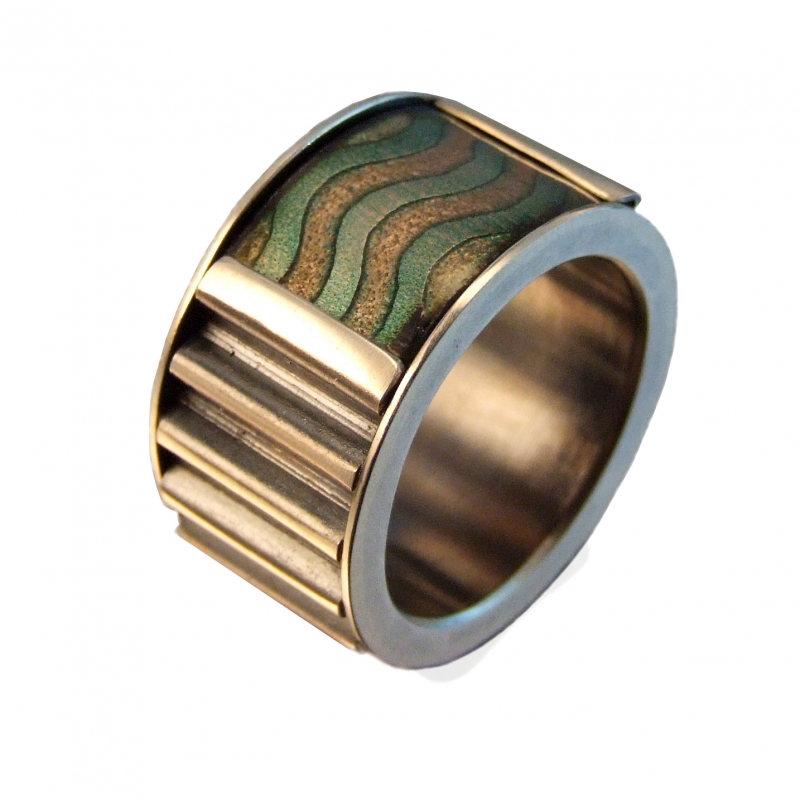 Corrugated Wave Ring - Convex - Melody Armstrong -  Eclectic Artisans